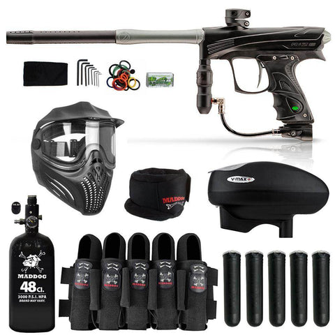 Maddog Dye Rize CZR Paintball Gun HPA V-Max+ Accessory Combo Package