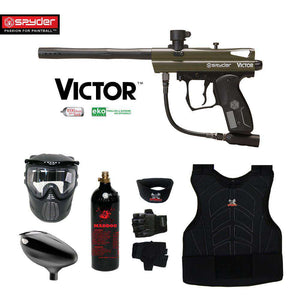 Spyder Victor Beginner Protective CO2 Paintball Gun Package