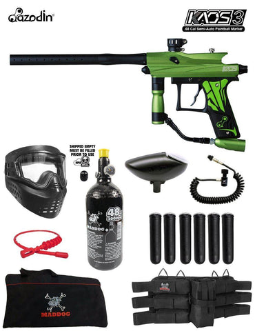Maddog Azodin Kaos 3 Corporal HPA Paintball Gun Marker Starter Package