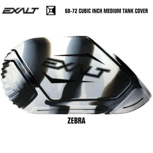 Exalt 68-72 Cubic Inch Compressed Air HPA Paintball Tank Cover - Zebra - PaintballDeals.com