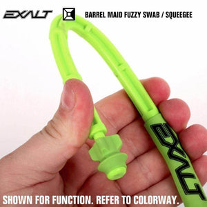 Exalt Paintball Barrel Maid Fuzzy Swab Squeegee - Arctic - PaintballDeals.com