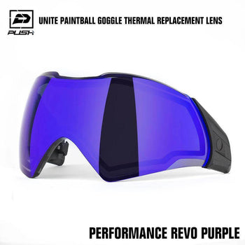 Push Unite Paintball Goggle Mask Thermal Lens w/ Protective Case - Performance REVO Purple - PaintballDeals.com