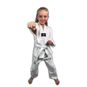 CLEARANCE - Zephyr Tae Kwon Do Gi Student Uniform with Belt - White - 6 - OPEN BOX