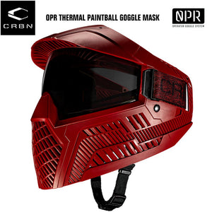 Carbon OPR Operator Thermal Paintball Goggles Mask - Dark Red