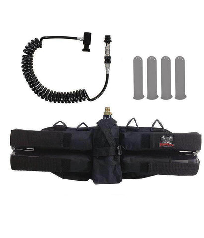 Maddog Sports 4+1 Paintball Harness w/ Pods & Remote Coil w/ Slidecheck