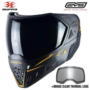 Empire EVS Thermal Paintball Mask - Black / Gold