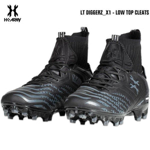HK Army LT Diggerz_1 Low Top Paintball Cleats - Black/Grey