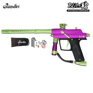 Azodin Blitz 4 Electronic .68 Caliber Paintball Gun - Purple / Green
