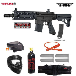 Tippmann TMC MAGFED Gold Paintball Gun Package