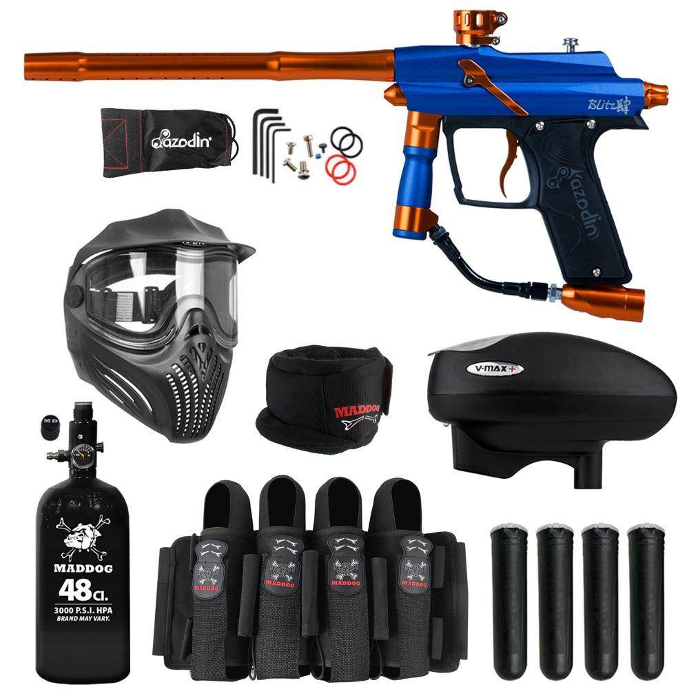 Maddog Azodin Blitz 4 Elite HPA V-Max+ Paintball Gun Package