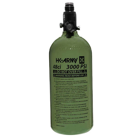 HK Army 48/3000 Aluminum Compressed Air HPA Paintball Tank - PaintballDeals.com