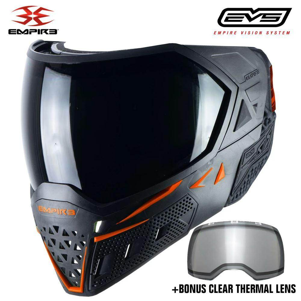 Empire EVS Thermal Paintball Mask - Black / Orange - PaintballDeals.com