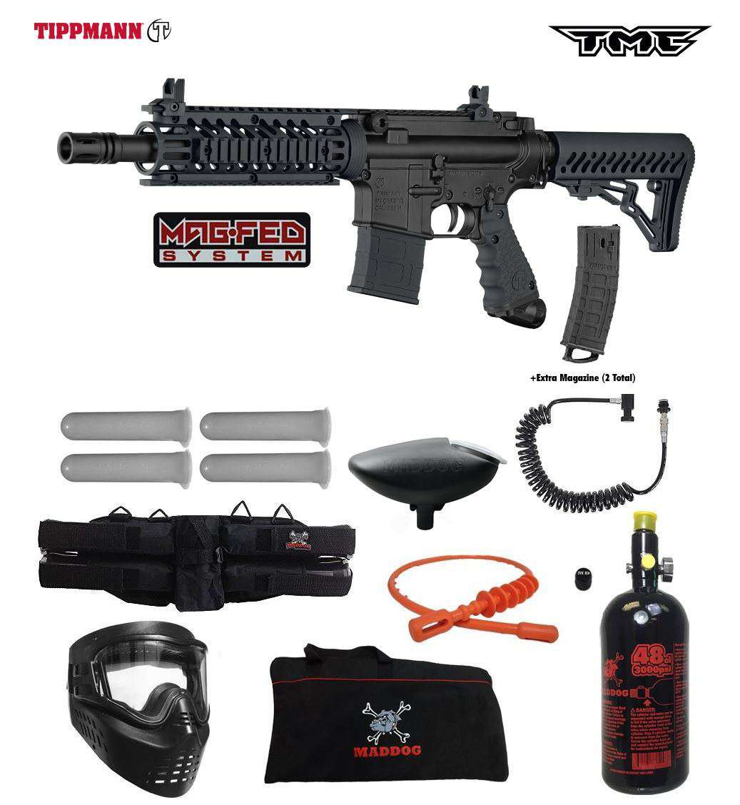 Tippmann TMC Package MAGFED Specialist HPA Paintball Gun Kit