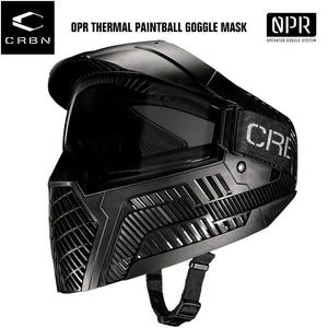 Carbon OPR Operator Thermal Paintball Goggles Mask - Black