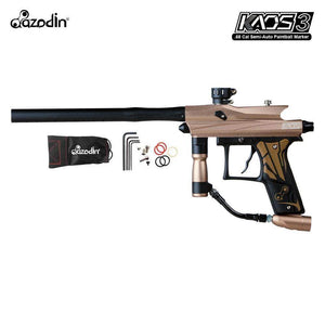 Azodin Kaos 3 Semi-Automatic .68 Caliber Paintball Gun Marker - Brown / Black