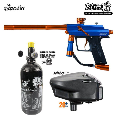 Maddog Azodin Blitz 4 HPA Paintball Gun Starter Package