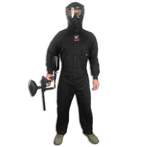 Maddog Tactical Paintball Rip Stop Coverall Jumpsuit - Black - Medium - OPEN BOX