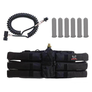 Maddog Sports 6+1 Paintball Harness w/ Pods & Standard Remote Coil