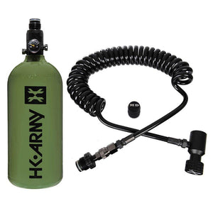 Maddog HK Army 48ci/3000psi Compressed Air HPA Paintball Tank with Quick Disconnect Remote Coil and Fill Nipple Protector Combo - PaintballDeals.com