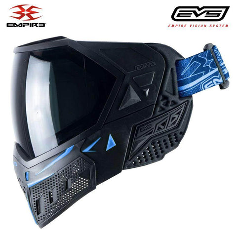 Empire EVS Thermal Paintball Mask - Black / Navy Blue