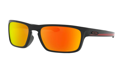 Oakley Men's Sliver Stealth Ignite Collection Sunglasses - Polished Black with Prizm Ruby Polarized Lenses