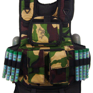 Maddog Tactical Paintball Vest Pod Holder - Woodland Camo