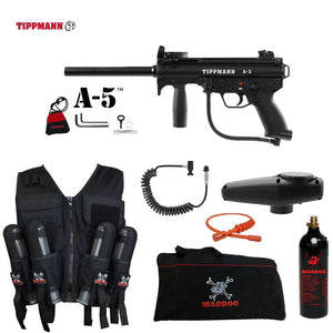 Tippmann A-5 Package Maddog Lieutenant Sport Vest Paintball Gun Kit