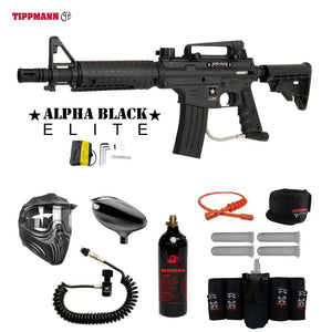 Tippmann U.S. Army Alpha Black Elite Tactical Maddog Elite Remote CO2 Paintball Gun Package