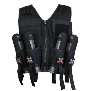 CLEARANCE - Maddog Lightweight Paintball Sport Vest - Black - OPEN BOX