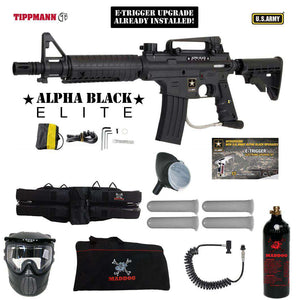 Tippmann U.S. Army Alpha Black Elite Tactical Specialist Paintball Gun Package