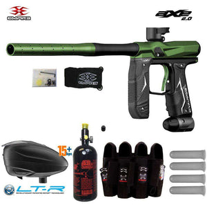 Empire Axe 2.0 Paintball Gun w/ Tank + Dye LT-R Loader & Pro Harness Combo Package