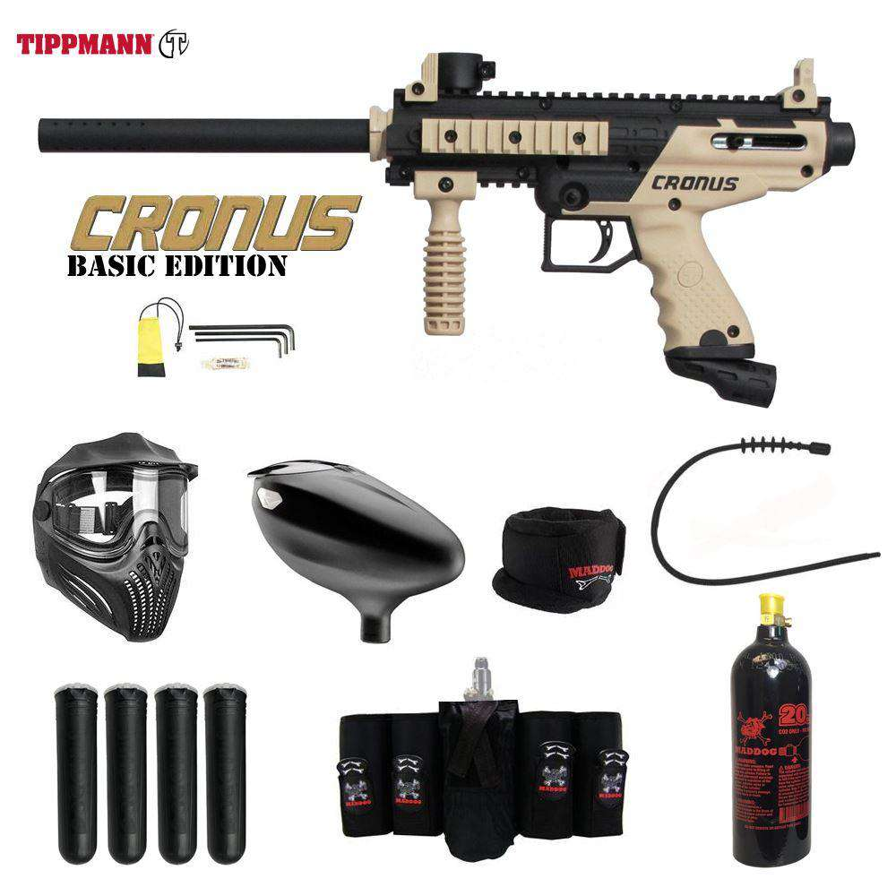 Tippmann Cronus Tactical Maddog Elite CO2 Paintball Gun Package