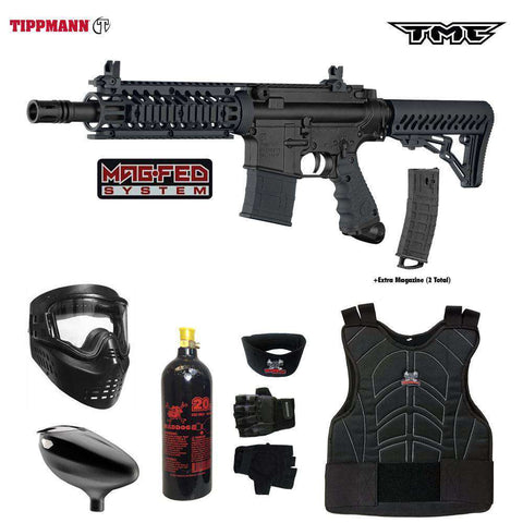 Tippmann TMC MAGFED Beginner Protective CO2 Paintball Gun Package