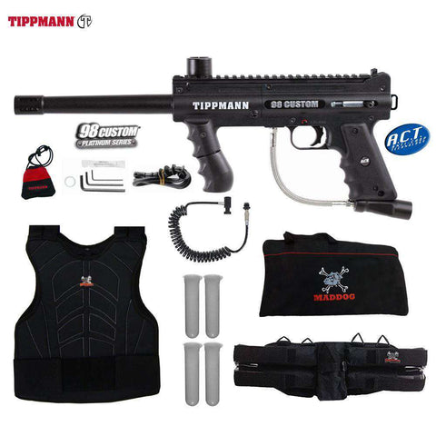 Tippmann 98 Custom Platinum Series Sergeant Paintball Gun Package