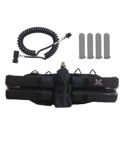 Maddog 4+1 Paintball Harness w/ Pods & Standard Remote Coil