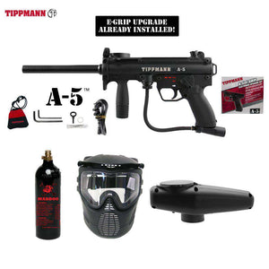 Tippmann A-5 Beginner CO2 Paintball Gun Package