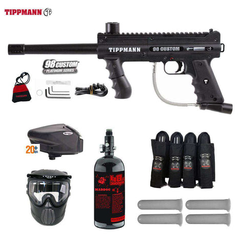 Tippmann 98 Custom Platinum Series Expert Paintball Gun Package