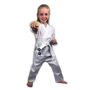 CLEARANCE - Zephyr Martial Arts Karate Gi Student Uniform with Belt - Red - 6 - OPEN BOX