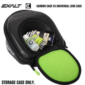 Exalt Paintball Universal Goggle Mask Lens Microfiber Travel Case V3 - Black - PaintballDeals.com