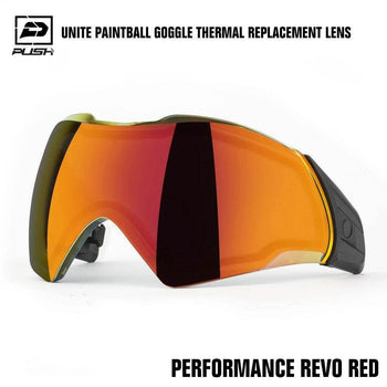 Push Unite Paintball Goggle Mask Thermal Lens w/ Protective Case - Performance REVO Red - PaintballDeals.com