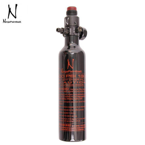 Ninja Paintball 13/3000 Aluminum Compressed Air HPA Paintball Tank with Standard Regulator - Black
