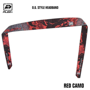 Push Paintball O.G. Style Headband - Red Camo - PaintballDeals.com