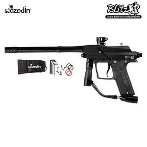 Azodin Blitz 4 Electronic .68 Caliber Paintball Gun - Black / Black - PaintballDeals.com