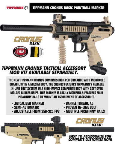 Tippmann Cronus Tactical Maddog Lieutenant Tactical Camo Vest Paintball Gun Package