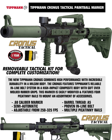 Tippmann Cronus Tactical Private CO2 Paintball Gun Package