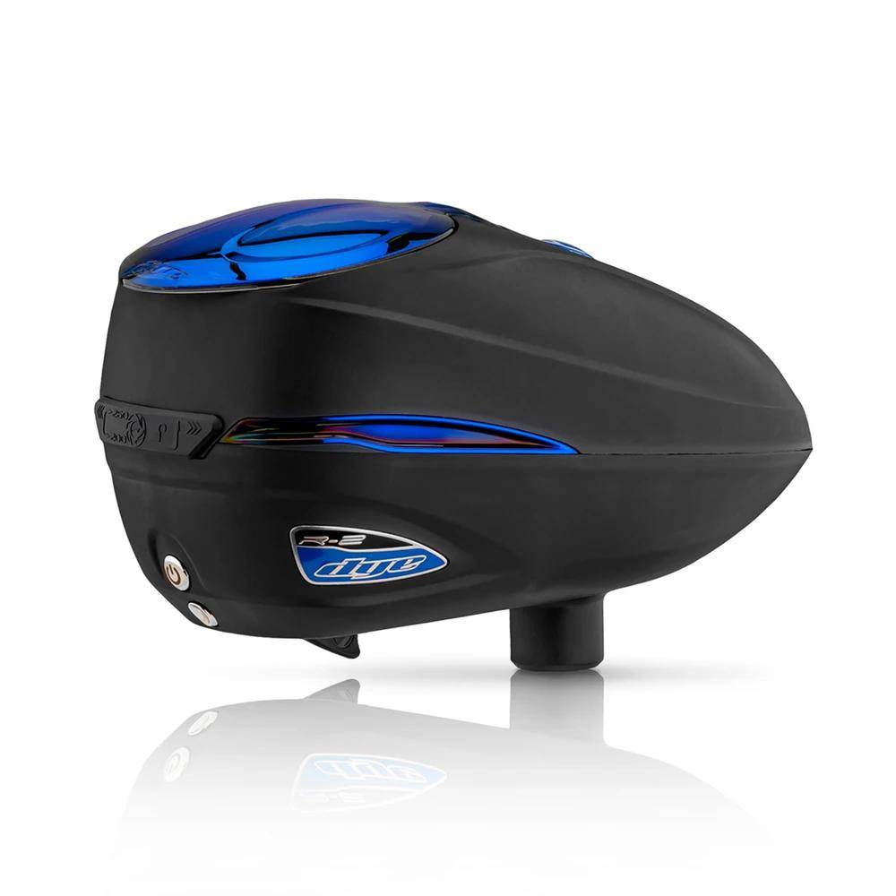 Dye Rotor R2 Electronic Paintball Loader - Black / Blue Ice
