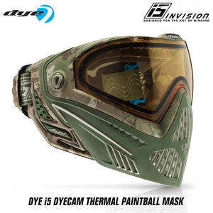 Dye I5 Thermal Paintball Mask Goggles with GSR Pro Strap - DyeCam