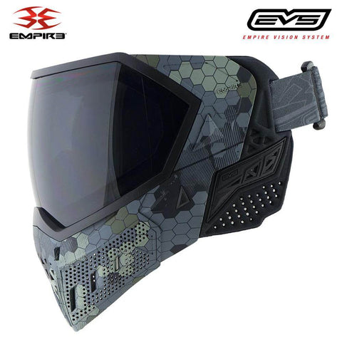 Empire EVS Thermal Paintball Mask - Hex Camo / Black