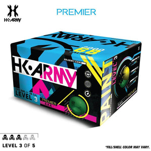 HK Army Premier Paint .68 Caliber Paintballs - Level 3/5 - Lime Green Shell / Yellow Fill