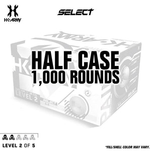 HK Army Select Paint .68 Caliber Paintballs - Level 2/5 - Green Shell / Yellow Fill - 1000 Rounds Half Case